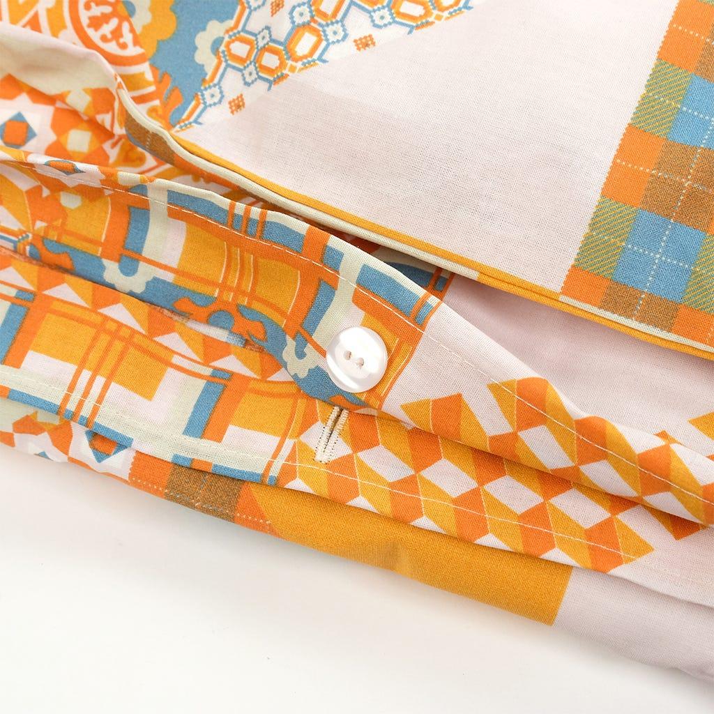 1 Saco de Edredão + 2 Fronhas Patchwork Laranja 240x220 cm