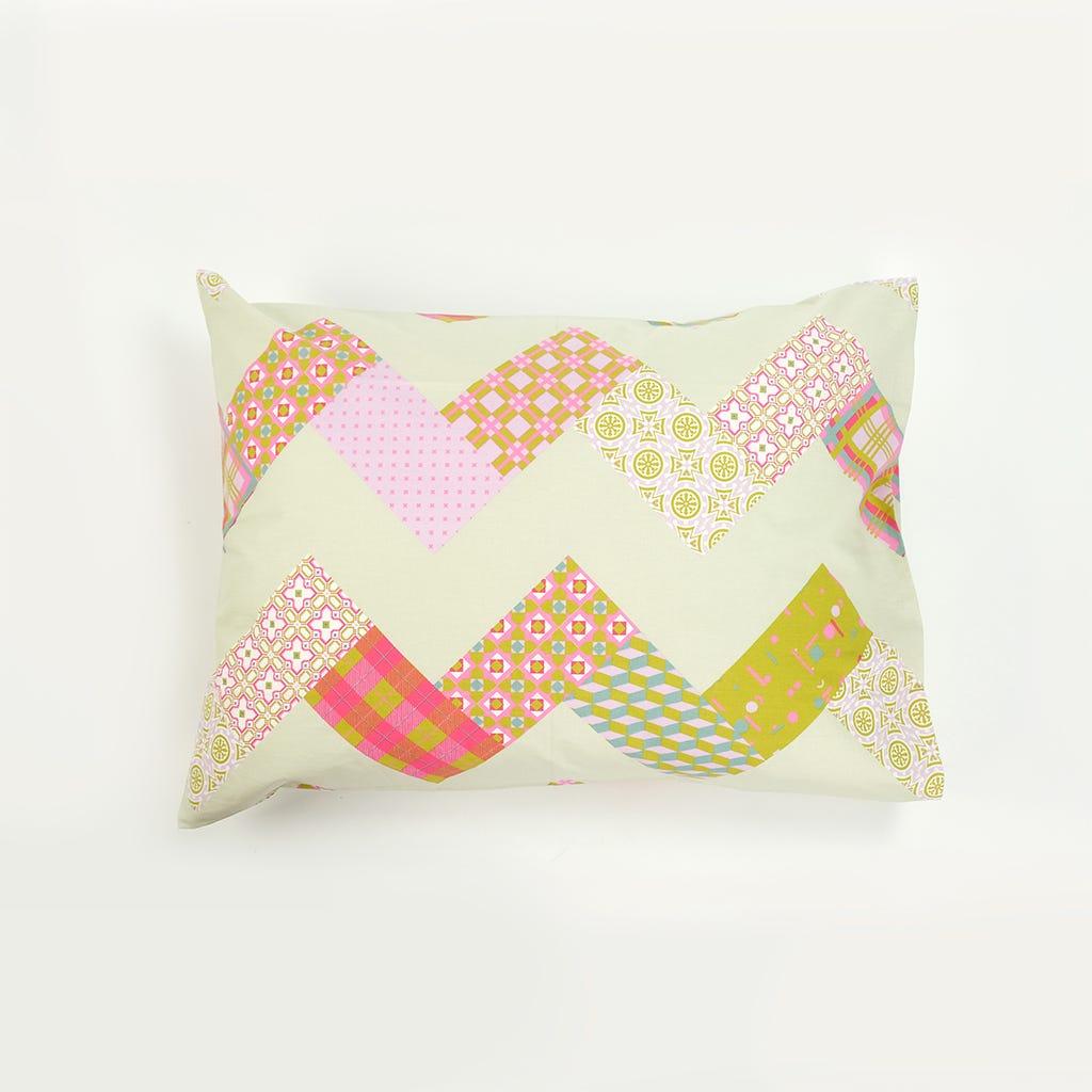 1 Saco de Edredão + 1 Fronha Patchwork Rosa 140x200 cm