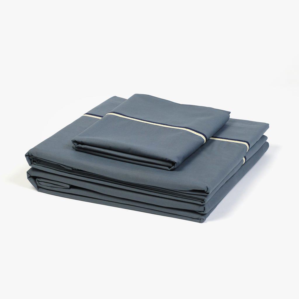 2 Lençois + 1 Fronha de Almofada Cinzento 180x280 cm