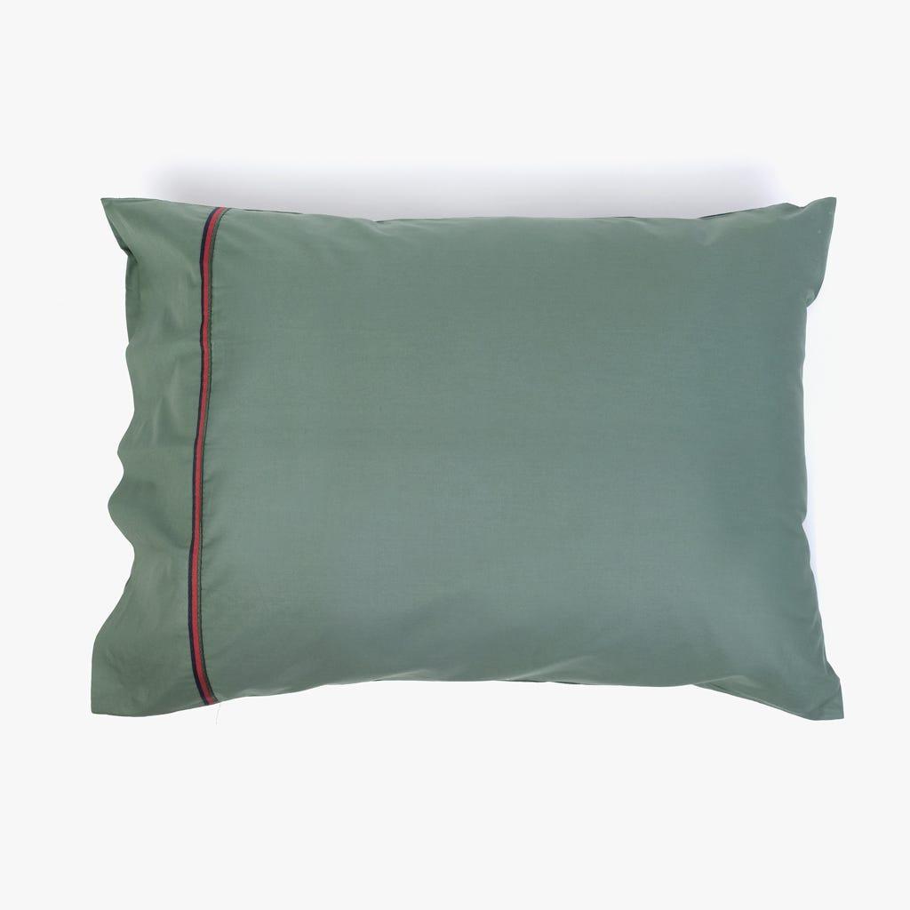 2 Lençois + 1 Fronha de Almofada Verde 180x280 cm