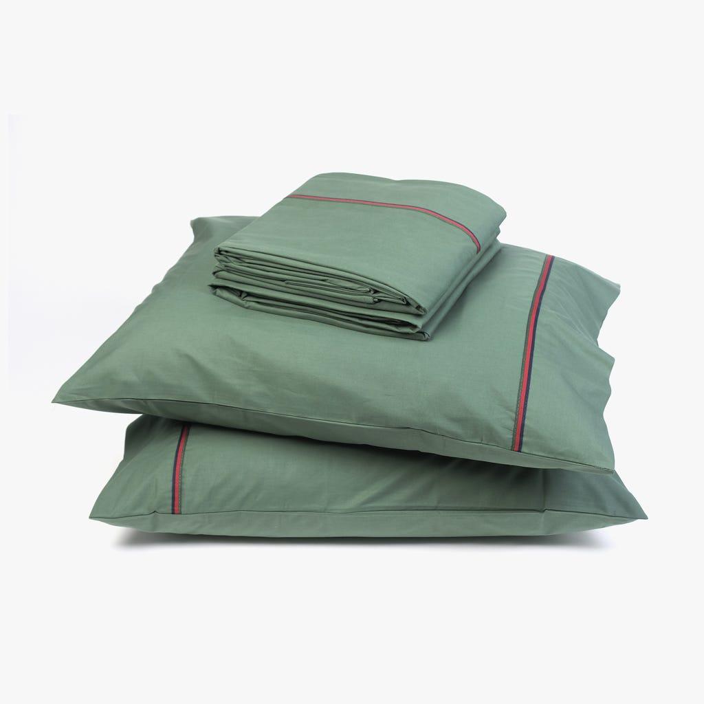2 Lençois + 2 Fronhas de Almofada Verde 270x280 cm