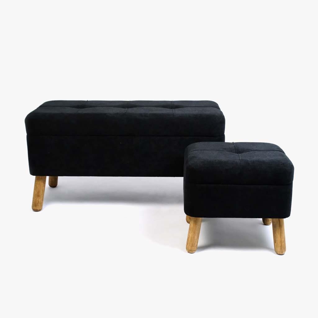 Tabouret Noir40x34x38 cm