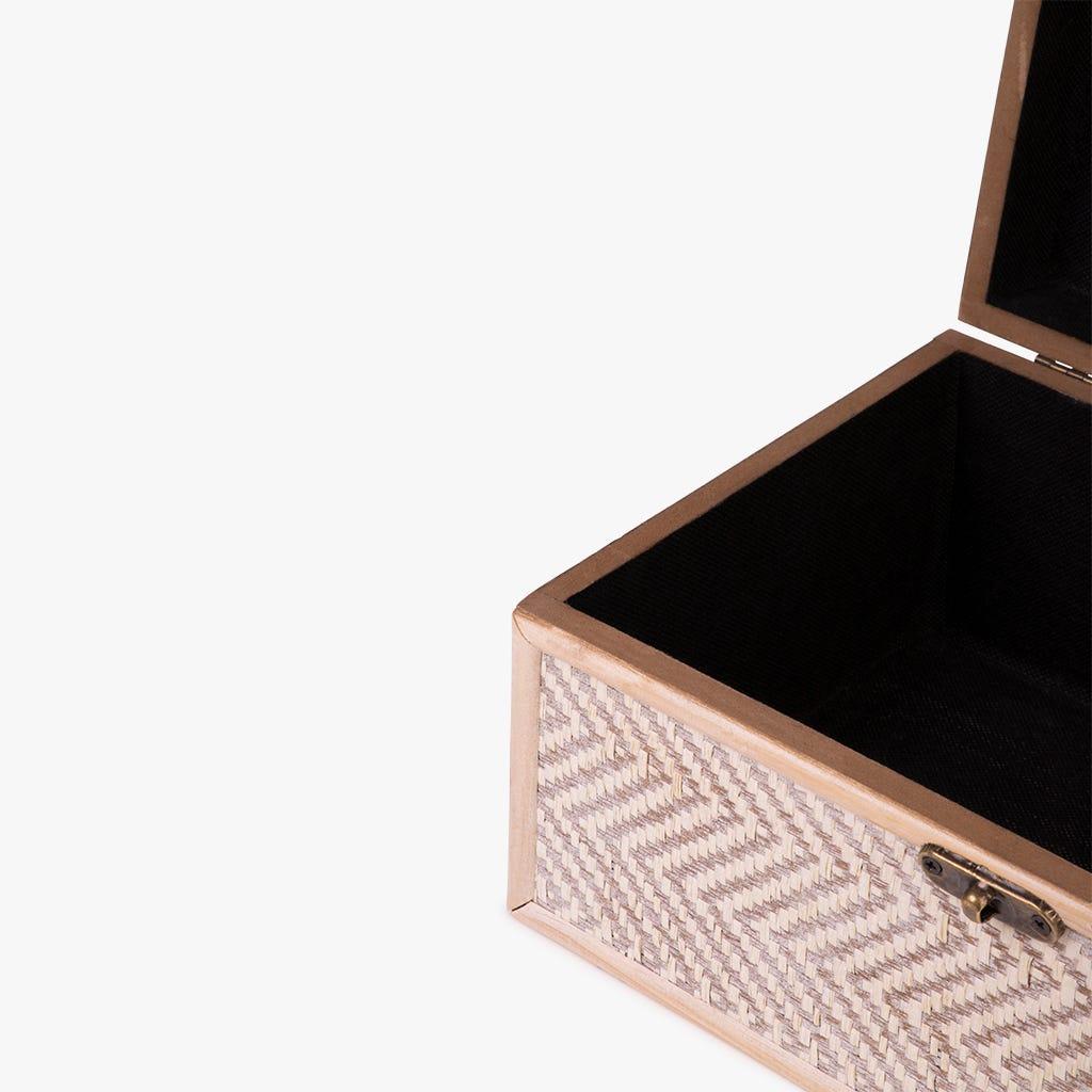 Caixa Zig-Zag Bege 30x20x14 cm