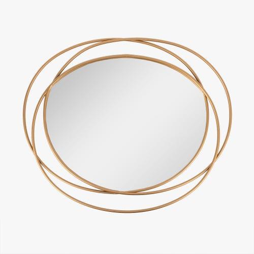 Espelho dourado 76x64 cm