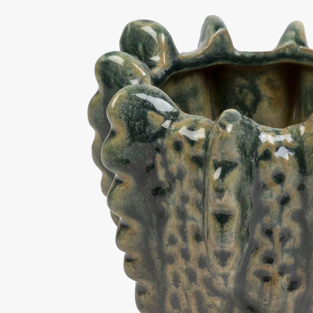 Vase Corail Vert 13x13x12 cm