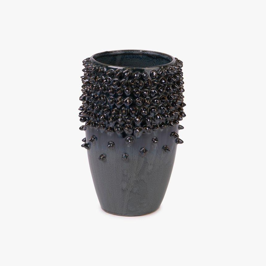 Vase Corail Céramique Bleu 16x16x21 cm
