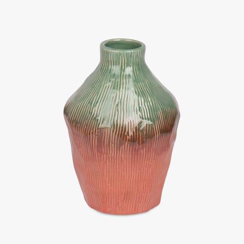 Vase Indigena Green and Pink 17x23 cm