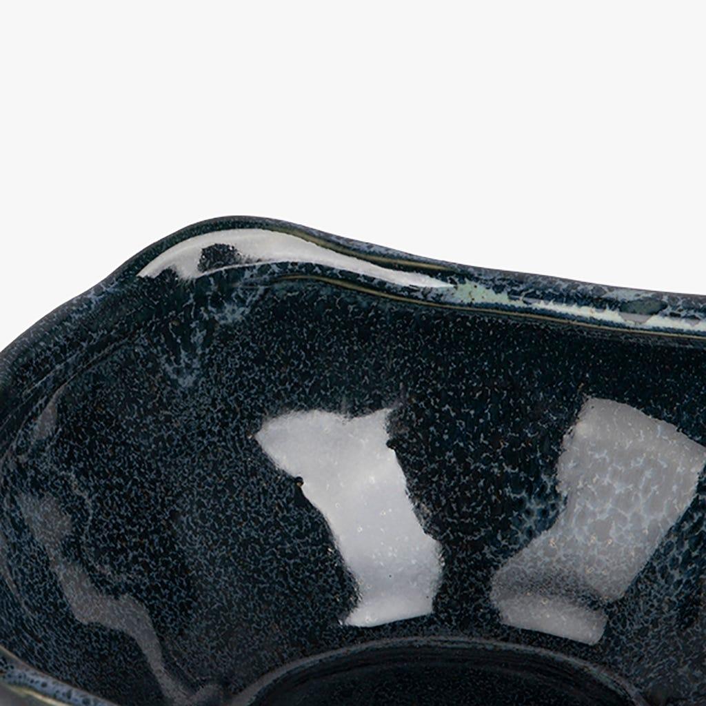 Bol décoratif Maré Bleu 16x10 cm