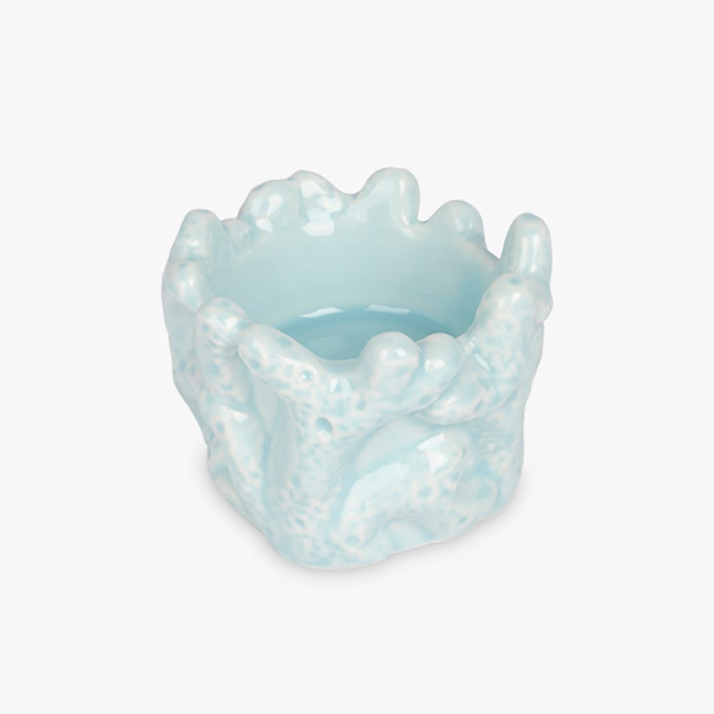 Tasse Tealight Aquatic Corail Bleu 6x5 cm
