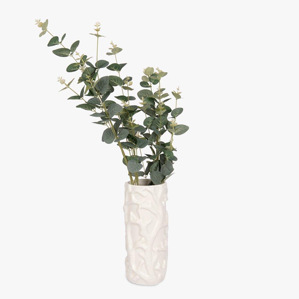 Vase Aquatic Corail Blanc 11x27 cm