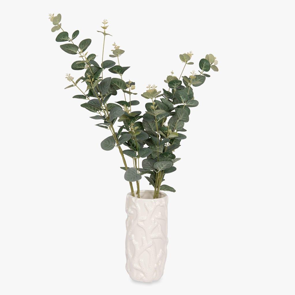 Vase Aquatic Corail Blanc 10x21 cm