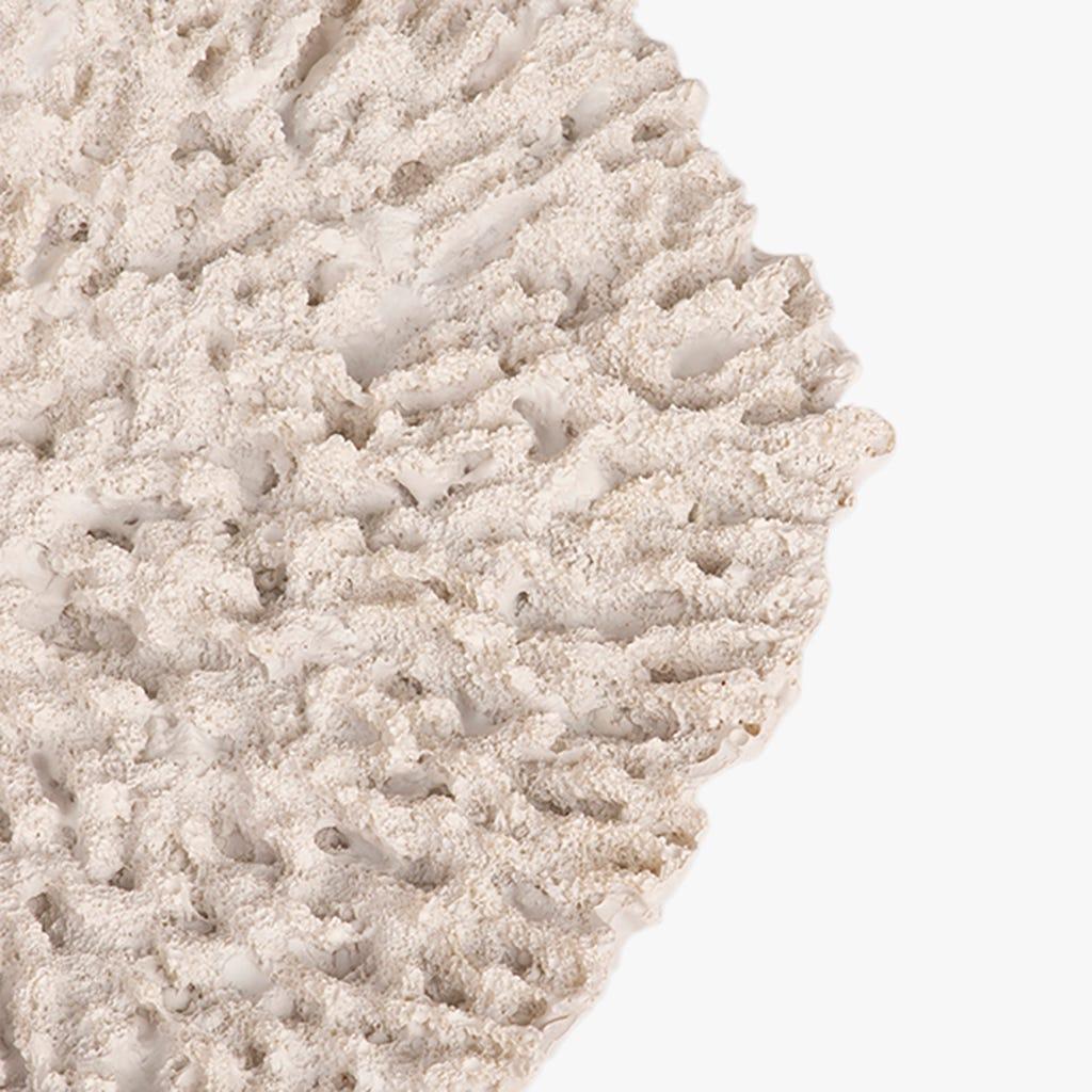 Plat décoratif Aquatic Corail Blanc 23x21 cm