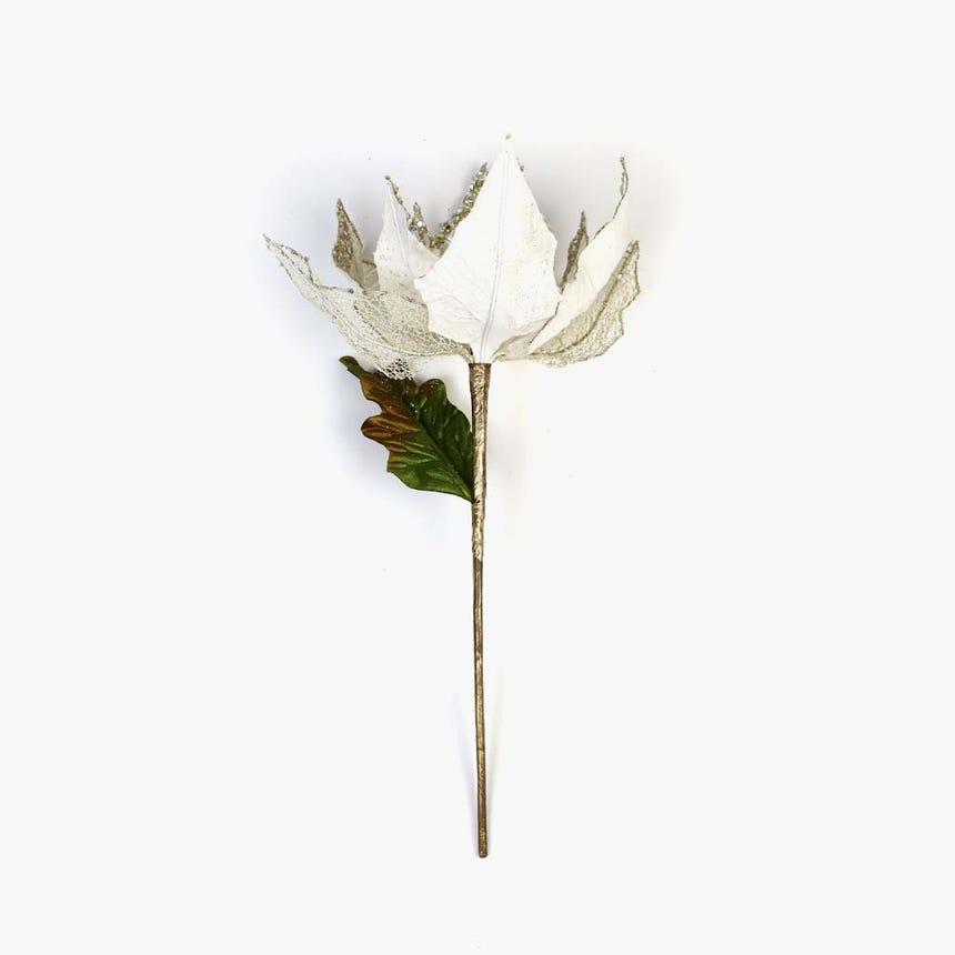 Poinsettia Bege 30 cm