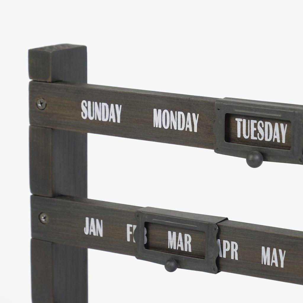 Calendário de mesa preto 50x7x27 cm