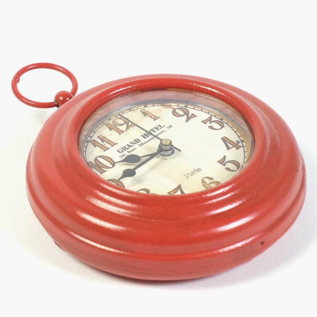 Relógio com íman Vermelho 14 cm