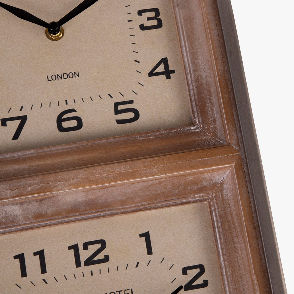 Horloge murale Triple 78 cm
