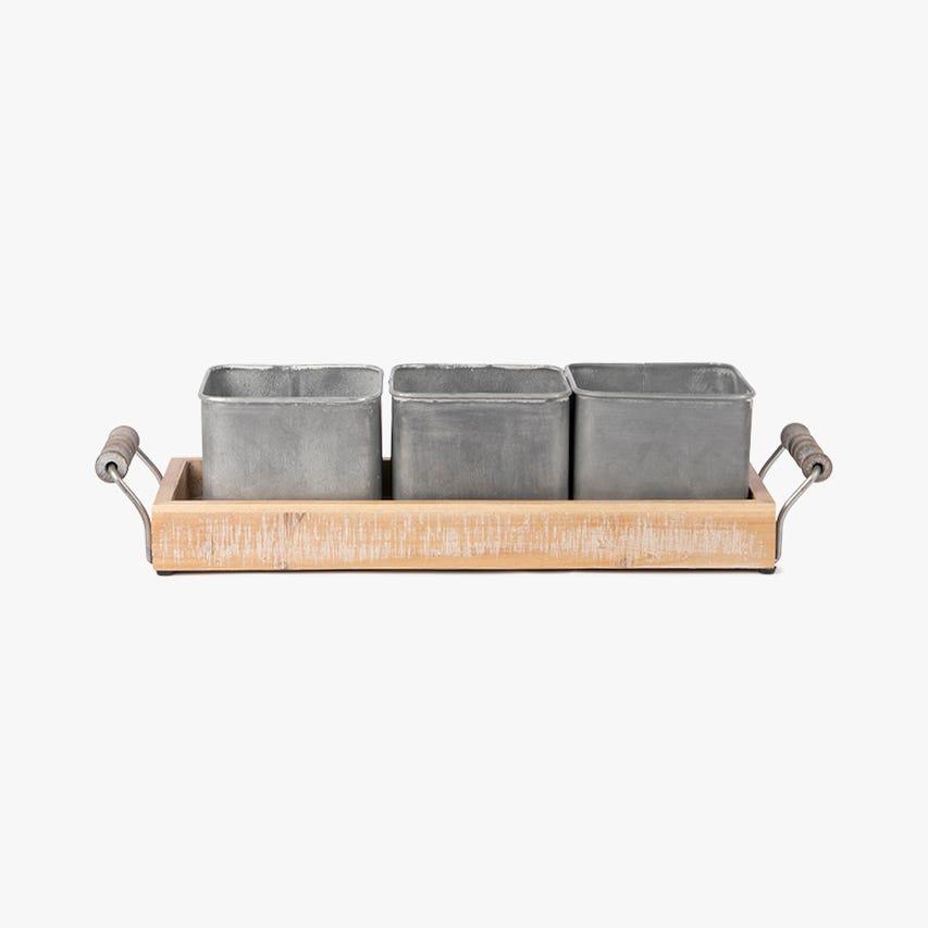 Vaso metal 44x14x11 cm (conjunto3)