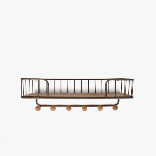Estante de pared Madera/ Metal 61x20x19 cm