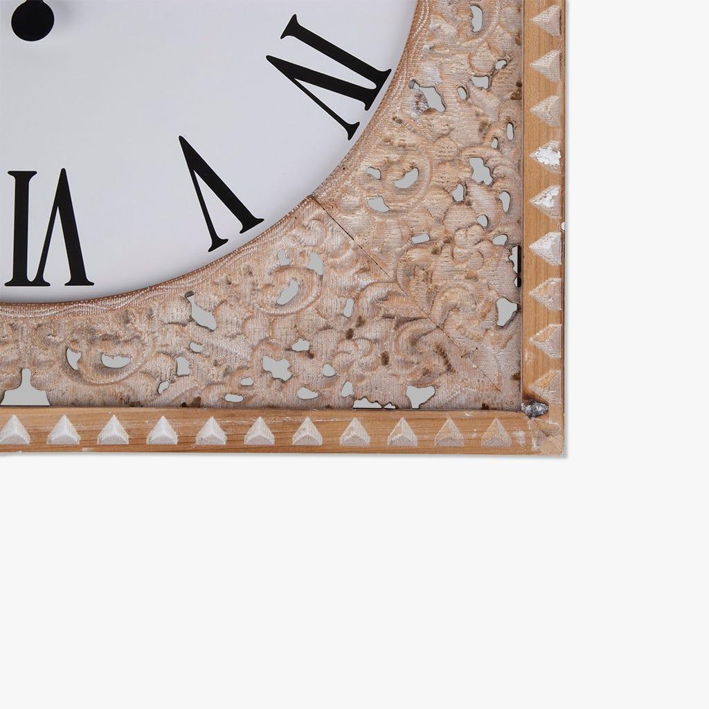 Horloge murale Bois Blanc 66x66 cm