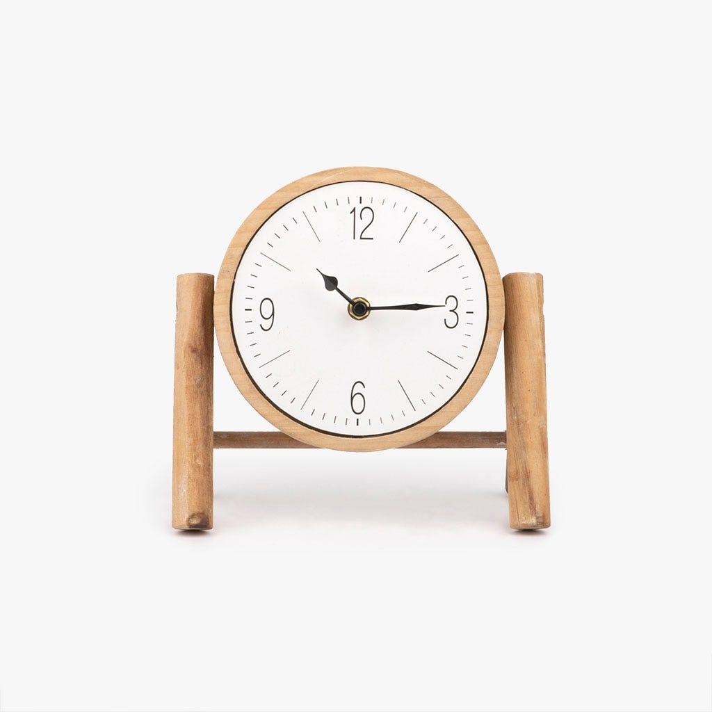 Relógio de mesa madeira 23x11x21 cm