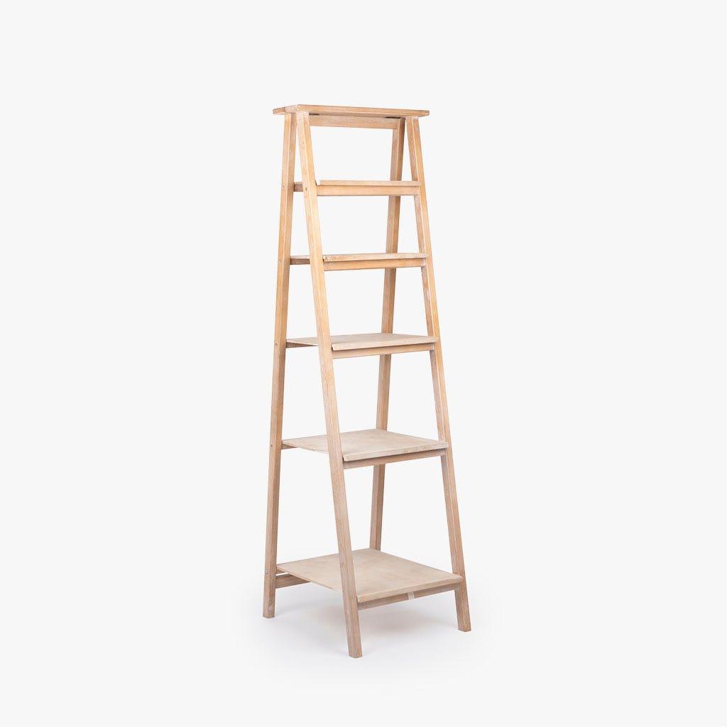 Estante escada madeira 62x55x181 cm