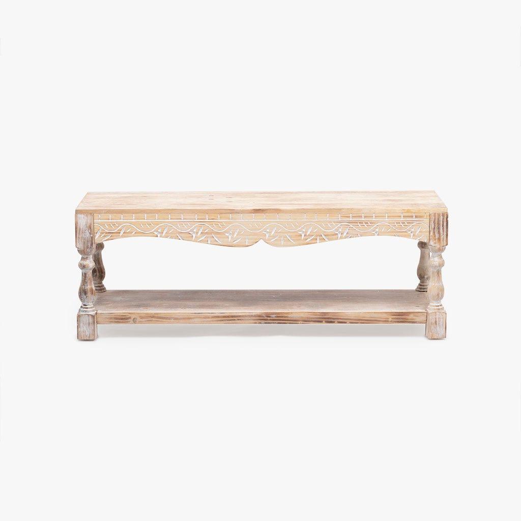 Mesa de apoio madeira 113x35x40 cm
