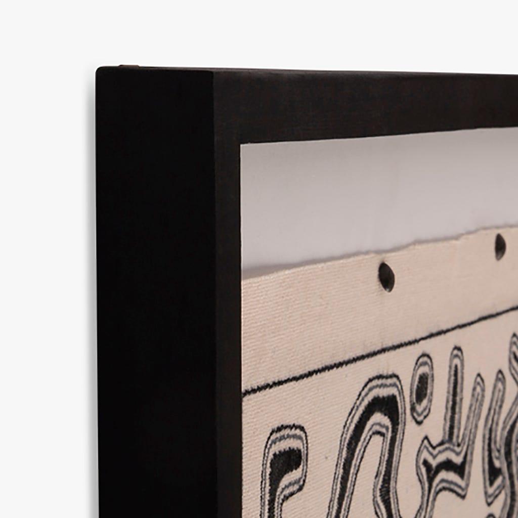 Cadre Blanc et Noir 55x3x70 cm