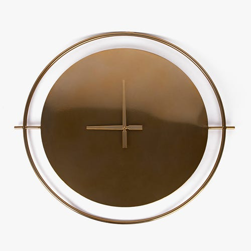 Reloj de Pared Metal Dorado 88 cm