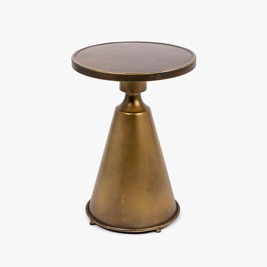 Table Basse Metal D'Or 31x31x44 cm