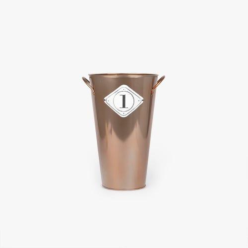 Vase Metal Cuivre 27x21x35 cm
