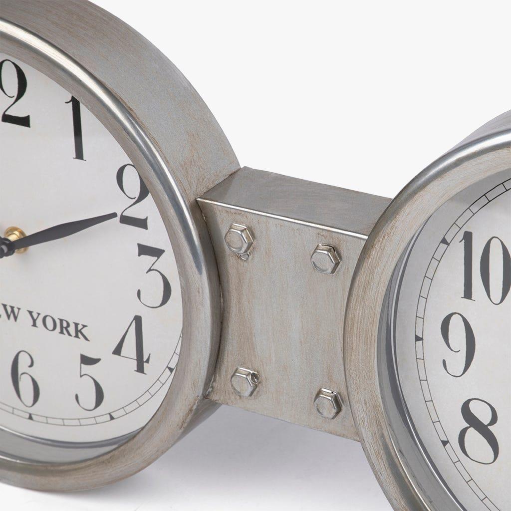 Horloge de Table Metal Argent