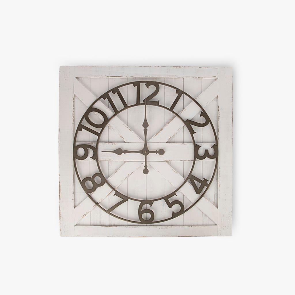 Horloge murale Bois Blanc 81X81 cm