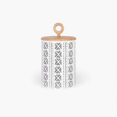 Caja étnico Madera/ Metal d17x31 cm