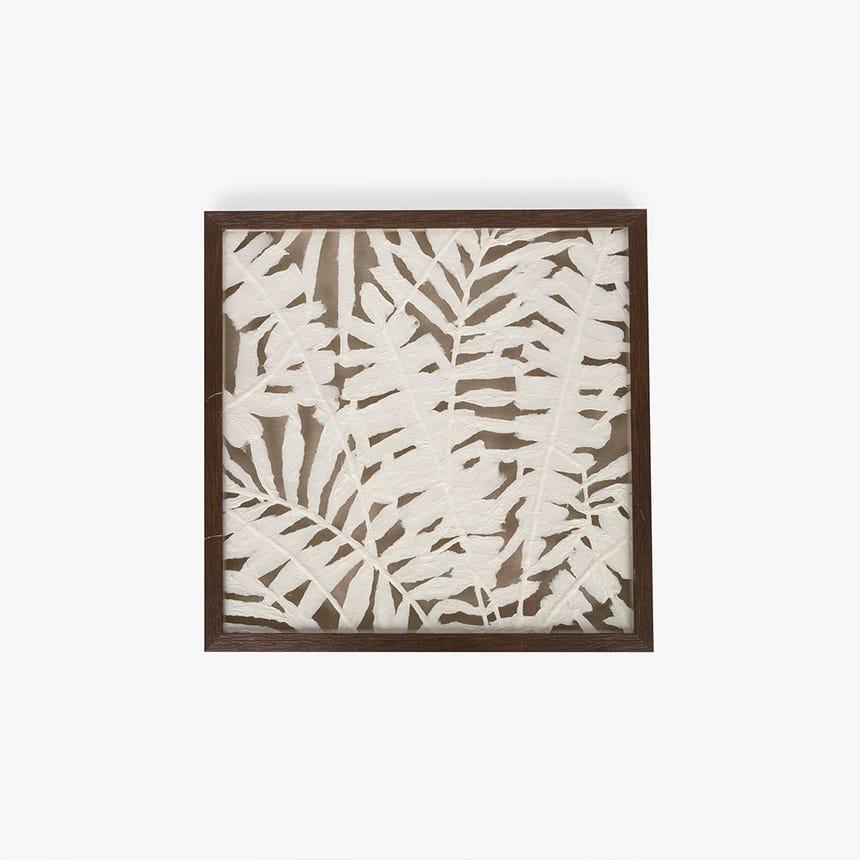 Quadro folhas 50x50 cm