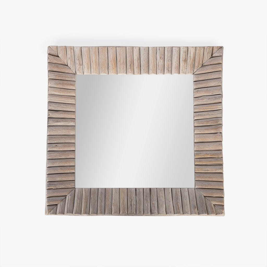 Espelho madeira 75x75 cm