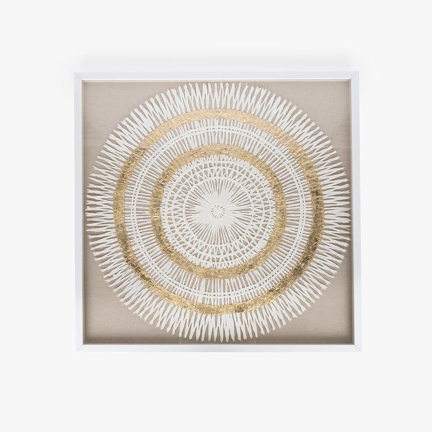Quadro mandala 80x80 cm