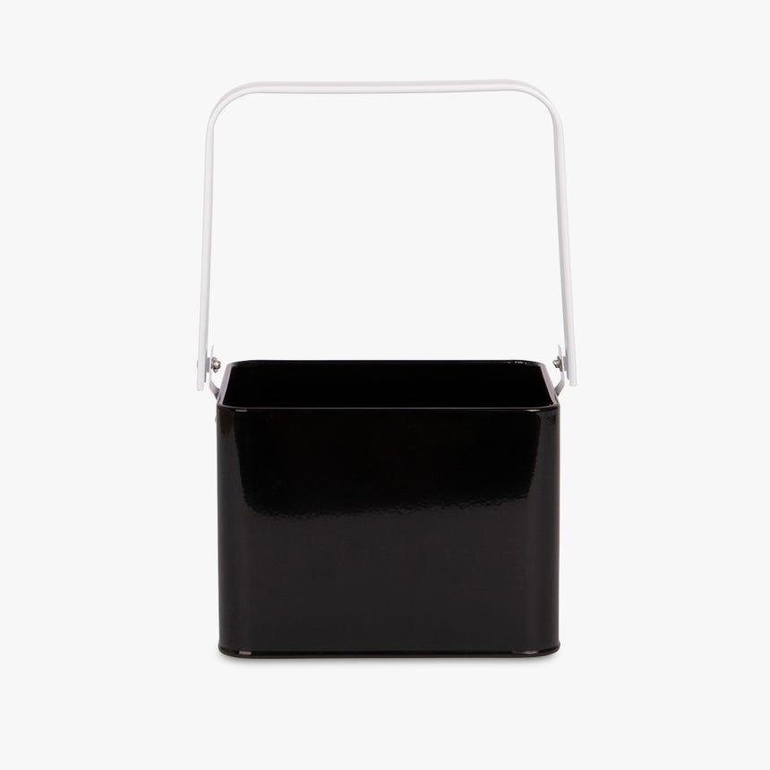 Panier Creston Metal Noir 18,5x15x15 cm