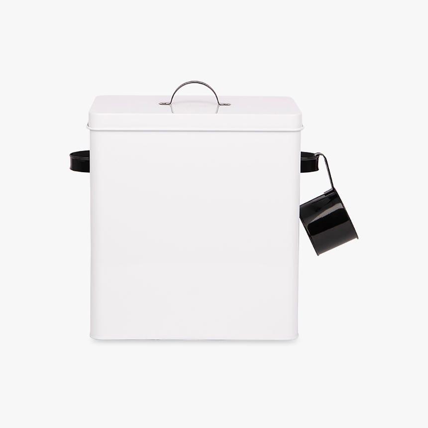 Boîte avec cuillère Creston Metal Blanc 37x18x32 cm