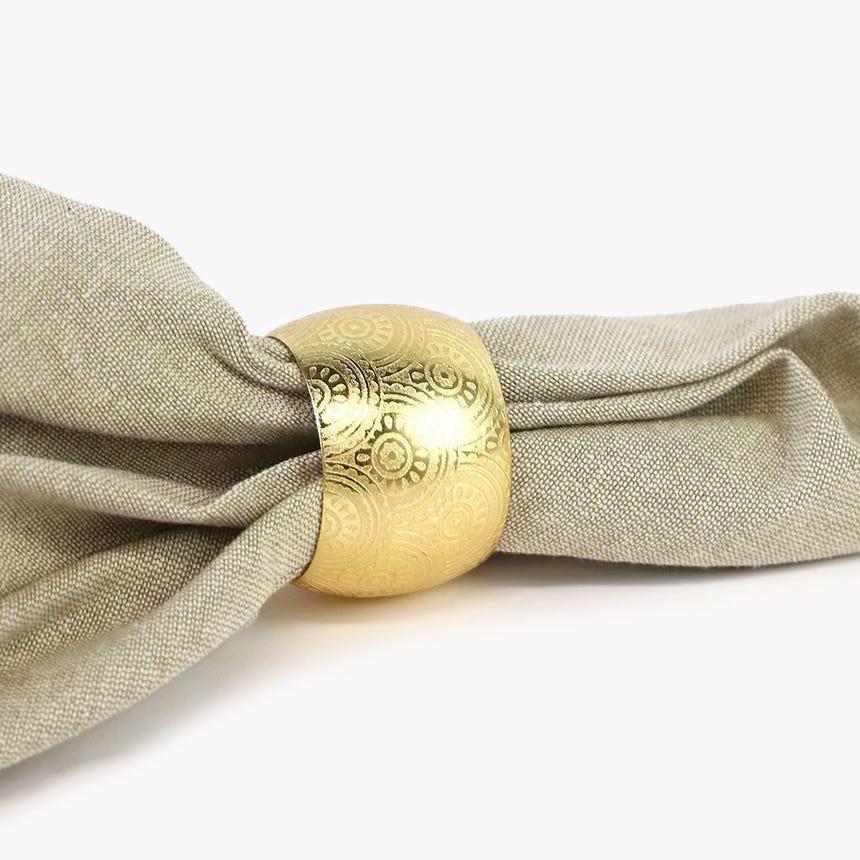 Anel de guardanapo Metal Ouro