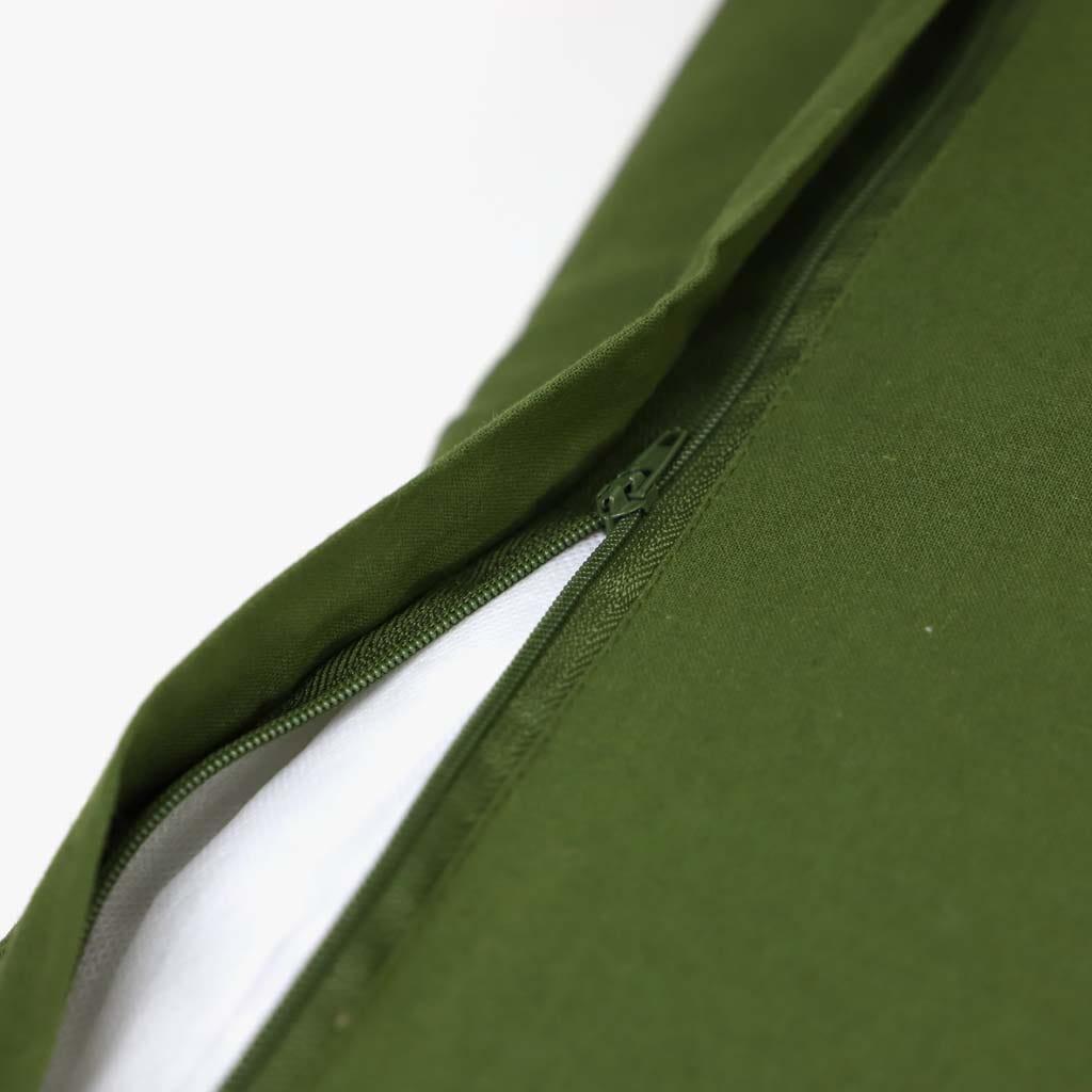 Almofada Folha Veludo Verde 35x60 cm