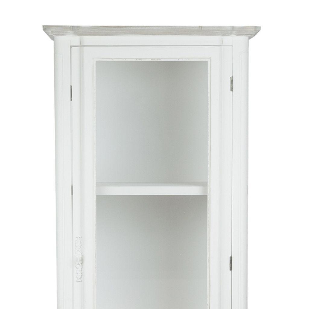 Estante Viena com 1 Porta + 2 Gavetas Branco 60x40x180 cm