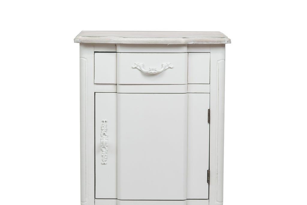 Mesa de Cabeceira Viena  1 Porta+1 Gaveta Branco 45x34x70cm