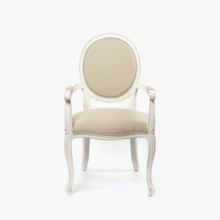 Cadeira de Braços Viena Branco 52x60x100 cm